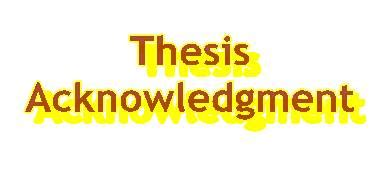 Acknowledgement phd dissertation